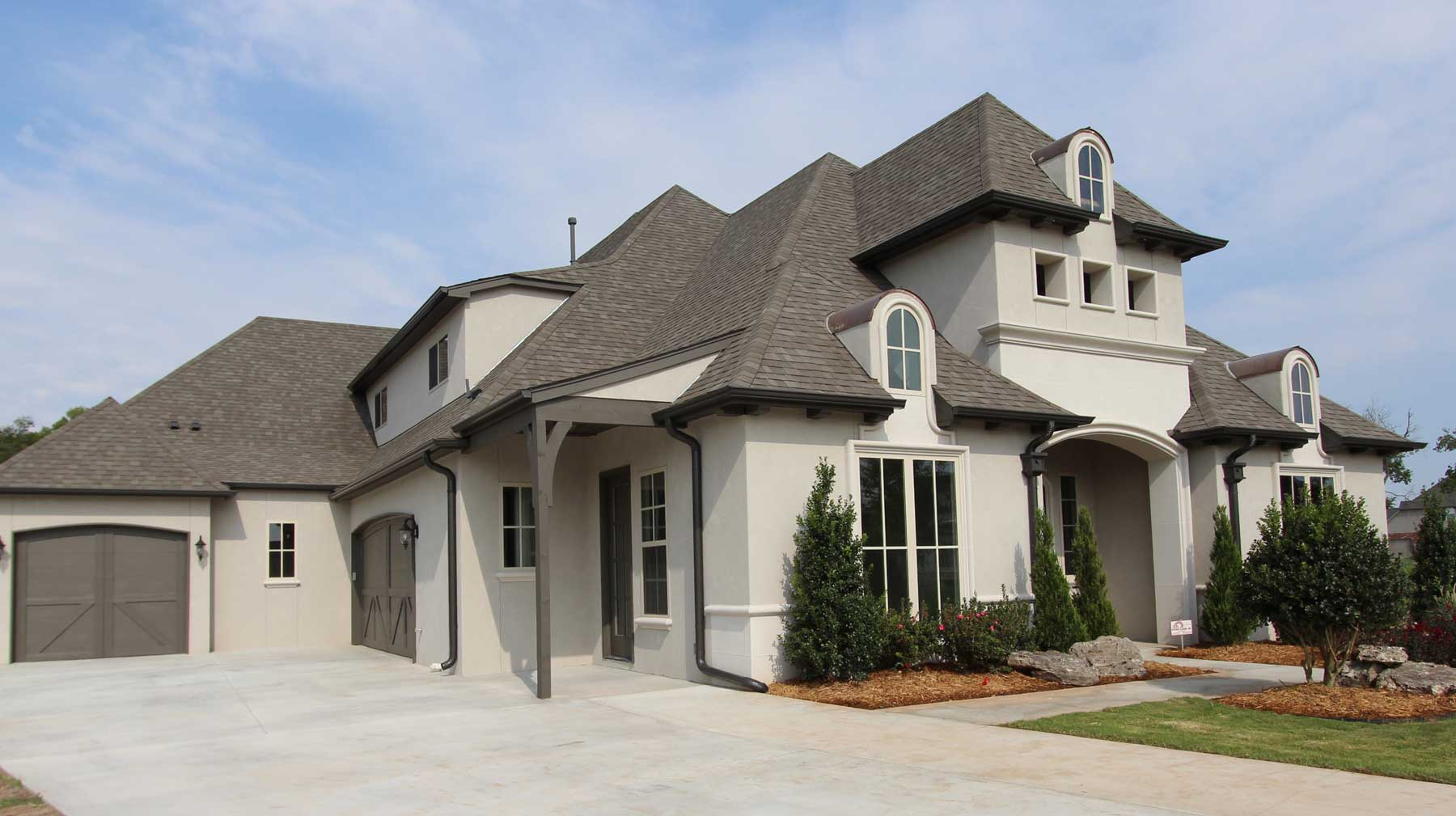 Custom Home Exteriors Model home exteriors - southern homes | award winning tulsa custom home